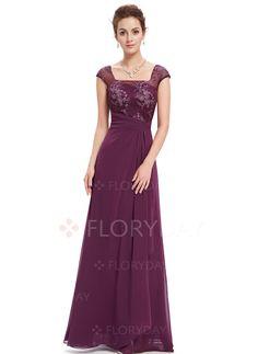 Dresses - $69.99 - Solid Cap Sleeve Maxi Elegant Ruffles Dresses (1955101656)