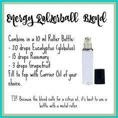 Essential Oil Energy Roller Blend Recipe | Young Living Essential Oils