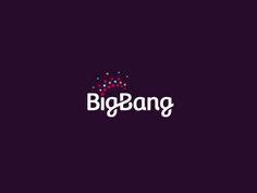 Big Bang Logo Design by Dalius Stuoka Logo Inspiration Gallery | More logos http://blog.logoswish.com/category/logo-inspiration-gallery/ #logo #design #inspiration