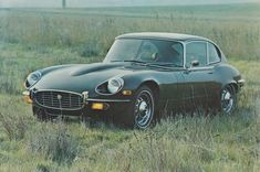 Jaguar E-Type series 3 V-12 2+2 Coupe, advertising postcard, USA, about 1973