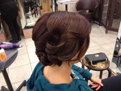 Classy updo   By Jeannette Lopez✂ ***My hair for a Fashion Show** :)