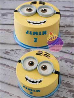 Minion cake2 … Torta Minion, Bolo Minion, Minion Cupcakes, Cupcake Cakes, Cake Minion, Minion Birthday, Minion Party, Birthday Cakes, Geek Birthday