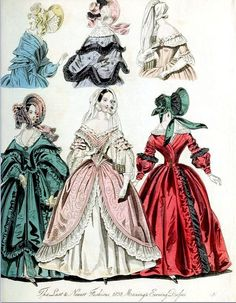 The World of Fashion and Continental Feuilletons 1838 Plate 50 by CharmaineZoe, via Flickr