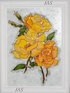 Stained Glass Flowers, Faux Stained Glass, Stained Glass Designs, Stained Glass Panels, Stained Glass Patterns, Glass Painting Patterns, Glass Painting Designs, Fabric Painting, Painted Vases