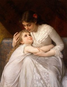 The women sat with the hollow expressions of mothers who'd either lost a child or feared losing the warm bundle in their arms. [Fate's Fables excerpt. traemitchell.com] Art by Emile Munier