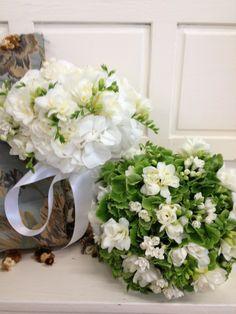 Wedding Flowers, Hydrangea and fressia mix