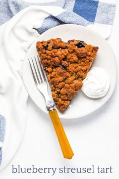 blueberry streusel tart for pi day! | Sheri Silver - living a well-tended life... at any age Refrigerated Pie Crust, Tart Pan, Pi Day, Streusel Topping, Ice Cream Flavors, Food Words, Frozen Fruit, Food To Make, Blueberry