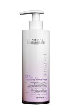 Come April, beauty boss L'Oréal is launching three new cleansing conditioners for various hair types. The one we'd like to bring to your attention is, naturally, the one formulated for you curly cuties out there. It contains zero harsh salts or parabens, so you don't have to worry about moisture-sucking ingredients. L'Oréal Professionnel Liss Unlimited Cleansing Conditioner, $38, available in April at Ulta.  #refinery29 http://www.refinery29.com/curly-hair-products#slide-31
