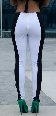 'Connection' Monochrome Panel Leggings from The Cruise Collection 'No Grey Area' by Dancing Dolls www.fashionpony.co.uk£45.00