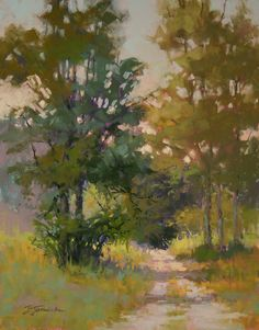 "One Spring Morning    Barbara Jaenicke, Pastel on Panel 14 x 11"""