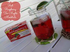 Red Raspberry Tea Mojito Mocktails #recipe using Bigelow Tea! #AmericasTea #cbias #spon