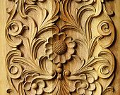 Rectangular panel 2, wood carving, traditional Bulgarian style, IN STOCK, ready for shipping