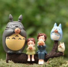 6x My Neighbor Totoro Mei Satsuki Play Ocarinas Figures Garden Bonsai Yard Decor