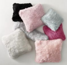 RH TEEN's Kashmir Faux Fur Pillow Cover & Insert:Wildly chic. Long, luxe and deep enough to sink into, our sublime Kashmir faux fur pairs an astonishingly natural feel with a couture color palette.