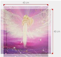 Angel print on canvas in 16x16 or 16x24 inches: The love