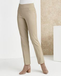 LOVE My Comfort Pant - Petite -- Women's petite tapered pant in easy-it, feel-good stretch fabric.