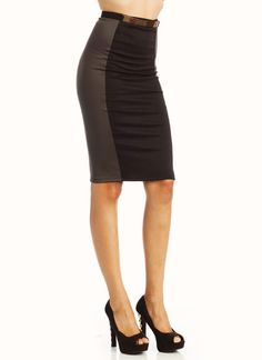 two-tone pencil skirt $20.20