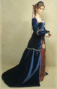 Enchanted Serenity of Period Films: Crawford Manor - Custom made Dolls Queen Elizabeth of York