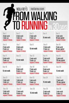 Walking to running