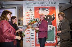 De tentoonstelling BLIKVANGERS van Fiep Westendorp in het Nederlands Drukkerij Museum is op 1 april geopend door burgemeester Heleen van Rijnbach. Zij deed dat samen met afgevaardigden van Fiep Amsterdam.  Er zijn t/m 1 november illustraties te zien voor reclamecampagnes, affiches en ontwerpen voor boekomslagen. Uiteraard ontbreken ook Jip en Janneke niet op deze tentoonstelling.  Aan de hand van de ontwerpen is de ontwikkeling van de druktechniek goed te volgen.