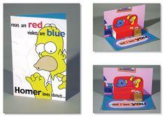 Simpsons Valentine's Day Card by ~kittybox on deviantART