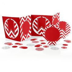 Chevron Red - Centerpiece & Table Decoration Kit - Baby Shower and Birthday Party Decorations - 39 P Red Birthday Party, Girls Birthday Party Themes, Birthday Party Tables, Red Party, Black Party, Red Centerpieces, Birthday Party Centerpieces, Big Dot Of Happiness, Birthday Invitations