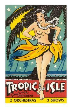Tropic Isle Pin Up