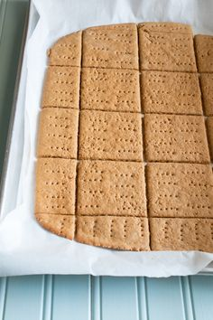 Gluten Free Graham Crackers. This will come in handy during holiday pie season living in a house full of gluten free-ers