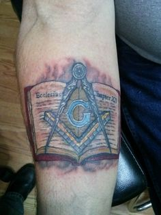 Masonic Tattoos, Freemason Symbol, Skyline Tattoo, Tattoo Ideas, Tattoo Designs, Little Falls, Freemasonry, Deathly Hallows Tattoo, Tattoo Studio