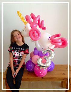 Unicorn balloon created by balloonblooms.co.uk