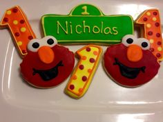 Hey, I found this really awesome Etsy listing at https://www.etsy.com/listing/231100192/elmo-birthday-sugar-cookies
