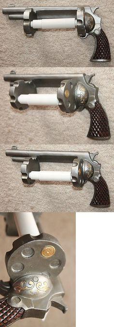 Advertisements 71132: Revolver Pistol Toilet Paper Holder Cowboy Ammo Gun Man Cave Bathroom Decor Gift BUY IT NOW ONLY: $34.99