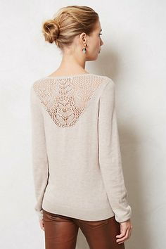 Aida Cowlneck ...comes in four beautiful colour and the lace back is so delicate!