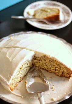 {Lemon Poppy Seed Cake with Lemon Cream Cheese Frosting}