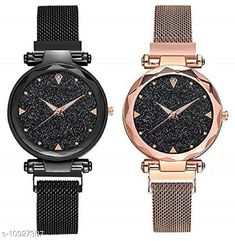 Checkout this latest Watches Product Name: *MMD  Analogue Quartz Movement Black dial Combo Wrist Watches for Ladies & Girls Pair of 2* Strap Material: Metal Display Type: Analogue Size: Free Size Multipack: 2 Country of Origin: India Easy Returns Available In Case Of Any Issue   Catalog Rating: ★4 (357)  Catalog Name: Classic Women Watches CatalogID_2020742 C72-SC1087 Code: 552-10927387-846