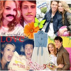 """Bridgit Mendler and Shane Harper!"" by chey-love on Polyvore"