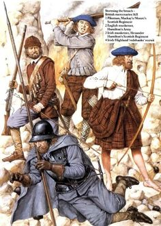 Irish and Scottish mercenaries in Swedish King Gustavus Adolphus' army. The Wild Geese often fly far afield.