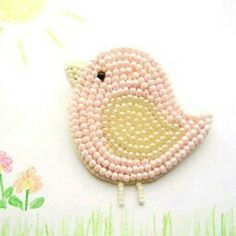 brooch Pink bird chick pin badge bead embroydery beadwork handmade, gift for girl Pink bird kids brooch Easter chick gift for girl by Kamart, lily Easter lily may refer to: Bead Embroidery Jewelry, Beaded Embroidery, Hand Embroidery, Embroidery Designs, Bead Jewellery, Seed Bead Jewelry, Beaded Jewelry, Seed Beads, Beaded Brooch