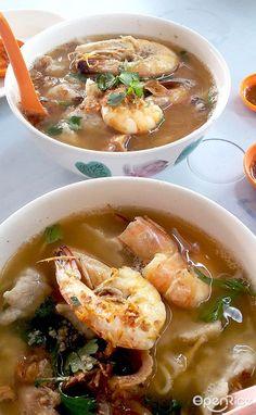 怡保 - 金记海鲜粉档-及弟粉  1, Hala Bendahara 1, Pasir Puteh, Ipoh Town, 31650 7.30am-2.30pm Thai Red Curry, Ramen, Soup, Ethnic Recipes, Soups