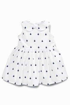 Buy White Boat Print Dress (0mths-2yrs) from the Next UK online shop