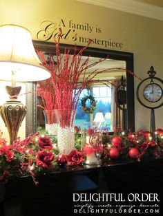 2012 Christmas House Tours | Delightful Order: My 2012 Christmas Decor Home Tour - Part 2 | Holiday