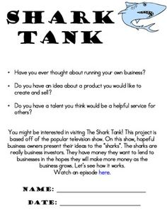Shark Tank Business Plan Project for Fundraiser or Classroom Store – redpapoa Wharton Business School, Harvard Business School, Business Management, Business Planning, Business Ideas, Fundraising Activities, Fundraising Companies, Fundraising Events, Learning Patience