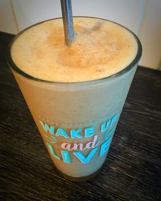You know you've made a good smoothie when your steel recyclable straw is able to stand by itself. This one has Maca ABC Nut Butter vanilla cinnamon coconut milk flaxseed and collagen with loads of ice. Yummo. #superfoodsmoothie #smoothie #smoothietime #smoothiequeen #pickmeup #wakeupandlive @typoshop #typoshop #yumazing by myfatrevolution