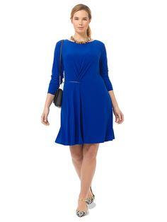 Zipper Dress In Royal Blue