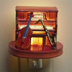 Jazz Band Nightlight.  #music #jazz #nightlight http://www.pinterest.com/TheHitman14/music-paraphernalia/