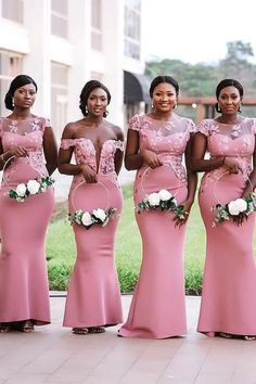 Chicloth Sheer Neck Appliques Floor Length Bridesmaid Dresses Perfect Model Bridesmaid Dress With Addition Lace, Romantic And Sweet, Chicloth Has A Good Choice Of Dresses At Cheap Rates, Blush Bridesmaid Dresses Long, African Bridesmaid Dresses, Affordable Bridesmaid Dresses, Bridesmaid Dresses Online, Black Bridesmaids, Wedding Bridesmaids, Dresses Dresses, Mermaid Dresses, Party Dresses