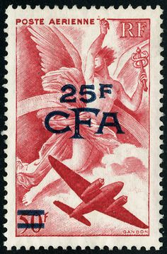 """1926 """"Réunion""""...used CFA overprinted stamps 1952–1975."""