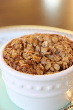 Sound delicious! Bed & Breakfast Baked Oatmeal. It's like oatmeal + cake + crispy crust. And all that equals bliss.