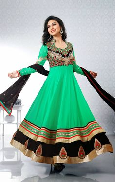 Green Salwar