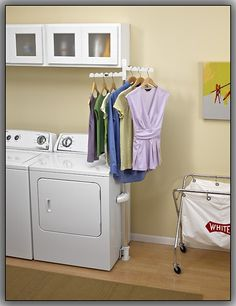 Whirlpool - Laundry 123 Clothing Rack - Black - Larger Front